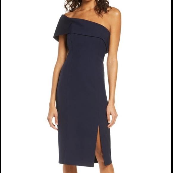 NWT Eliza J One shoulder dress